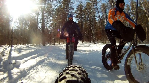 14. Grand Beach Fat Bike Ride 23 Mar 14 - Rear Cam 9