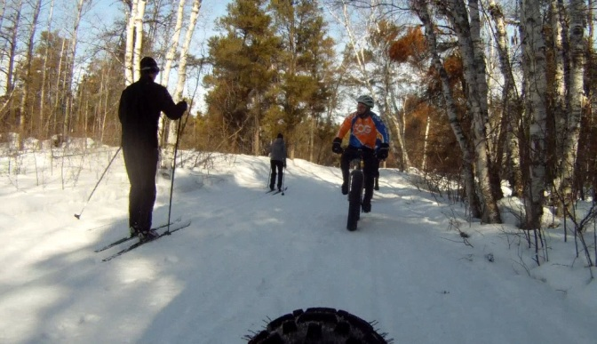 Video Time:  Fat Biking Winter Groomed Trails