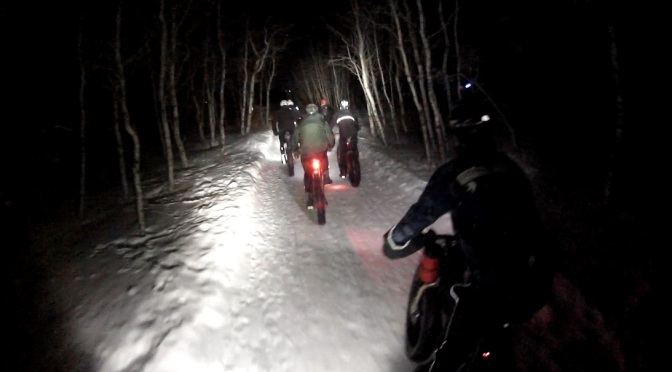 "Video Time:  Winter Night Ride – ""Fatties and a Skinny"""