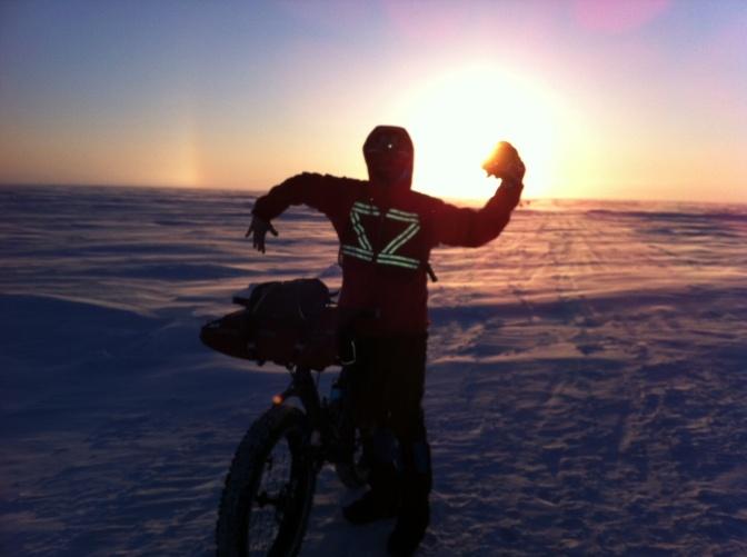 Fat biking frozen Lake Winnipeg … a near polar experience.