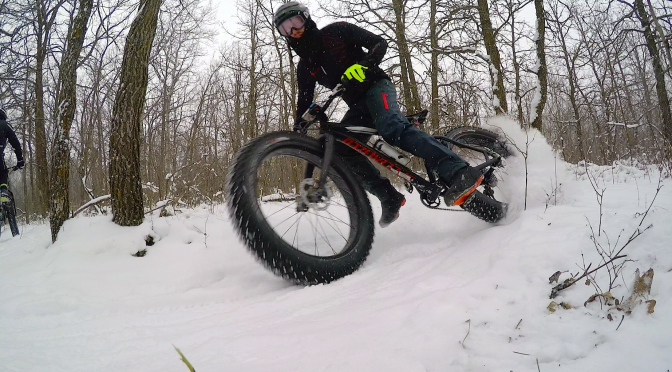 Video Time: First Singletrack Fatbike Trailride of the winter … Bur Oak Trail