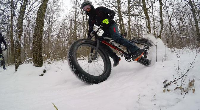 Video Time: First Singletrack Fatbike Trailride of the winter … Bur Oak Trail