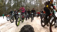 2016 Fat Bike Birkie - Rear Cam Screencap 4