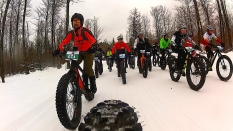 2016 Fat Bike Birkie - Rear Cam Screencap 8